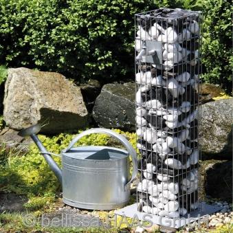 Wasserzapfsäule / Steinkorb Gabione bellissa 16x16x90cm Bild 1