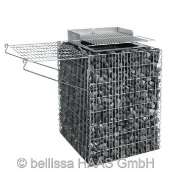 bellissa gabionengrill steinkorb 80cm bei. Black Bedroom Furniture Sets. Home Design Ideas