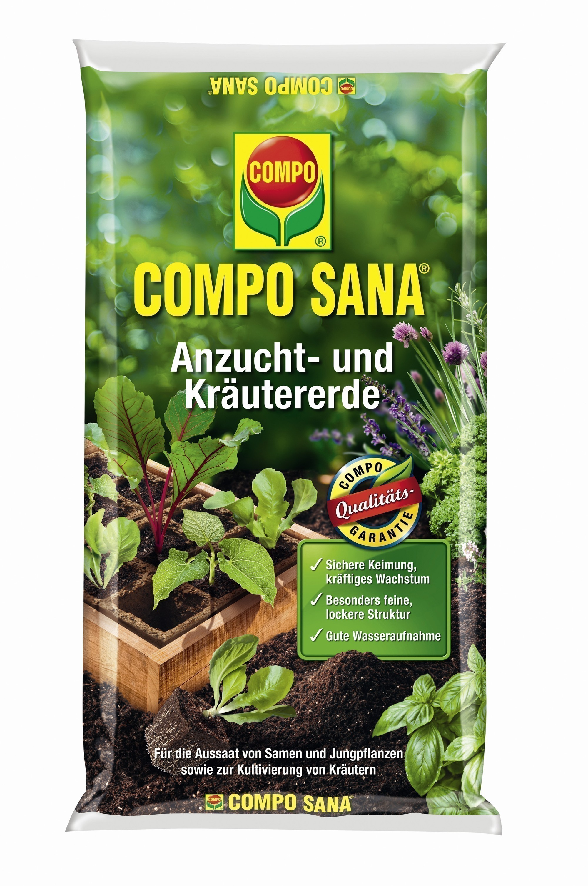 COMPO SANA Anzucht- und Kräutererde 10L Bild 1