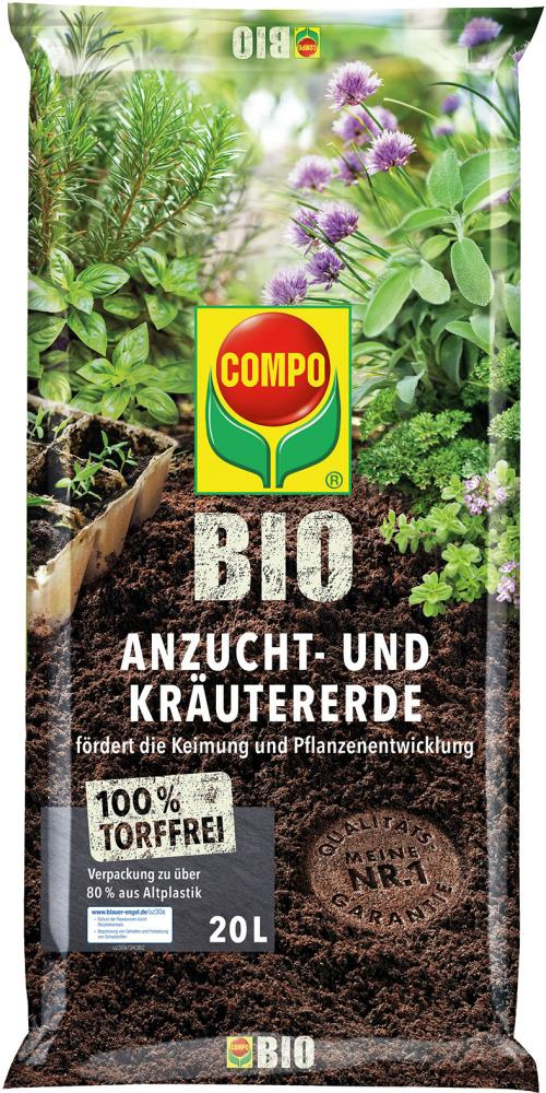 Compo Sana Anzucht- und Kräutererde 20 l Bild 1