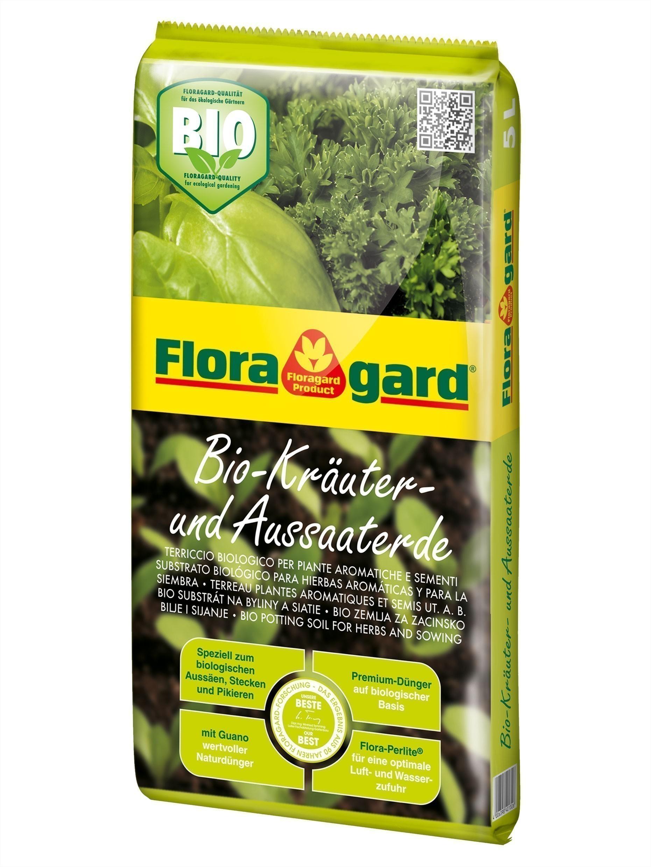 Floragard Bio Kräuter- Aussaaterde 5 Liter Bild 1