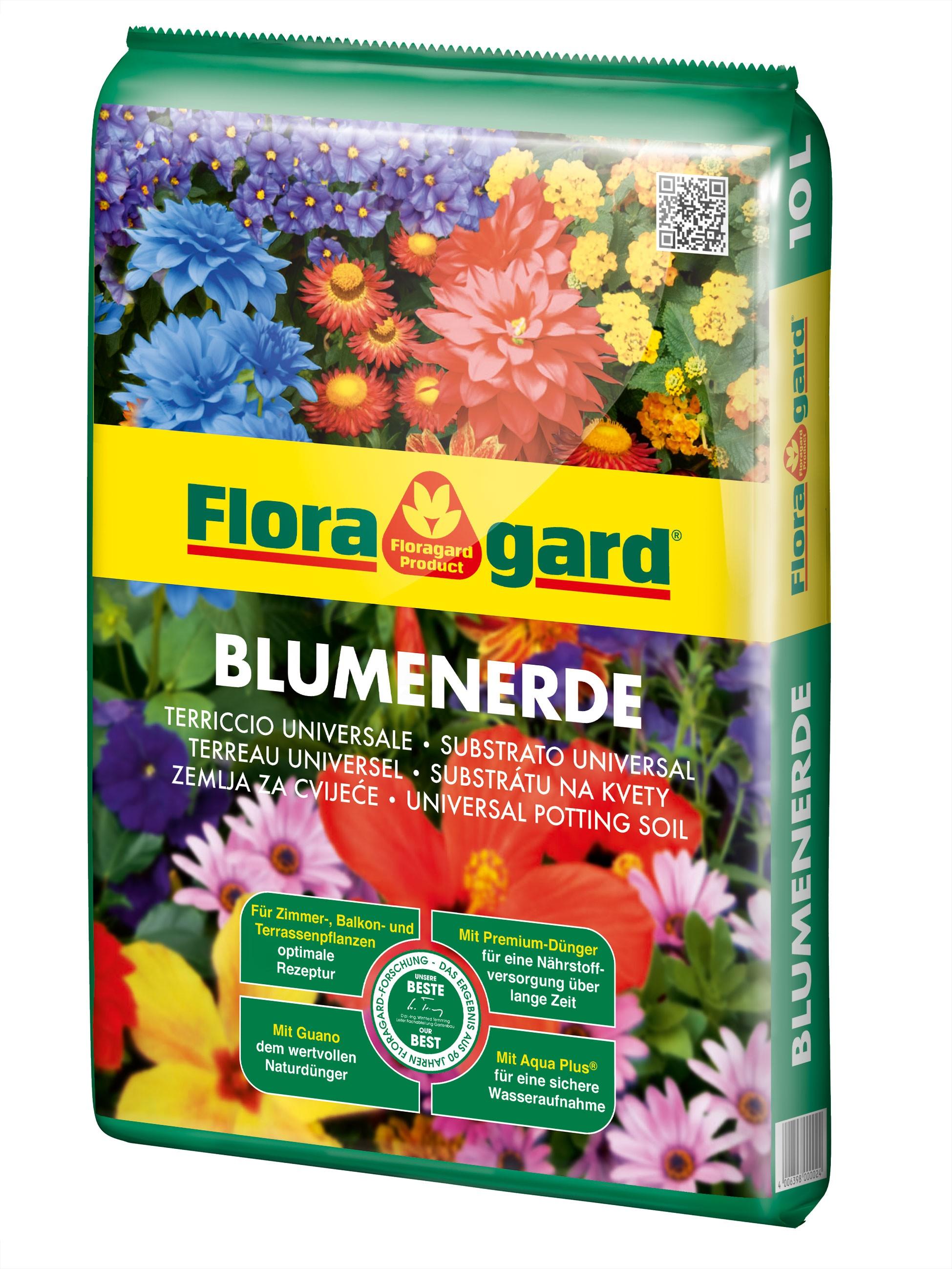 Floragard Blumenerde / Zimmerpflanzenerde 10 Liter Bild 1