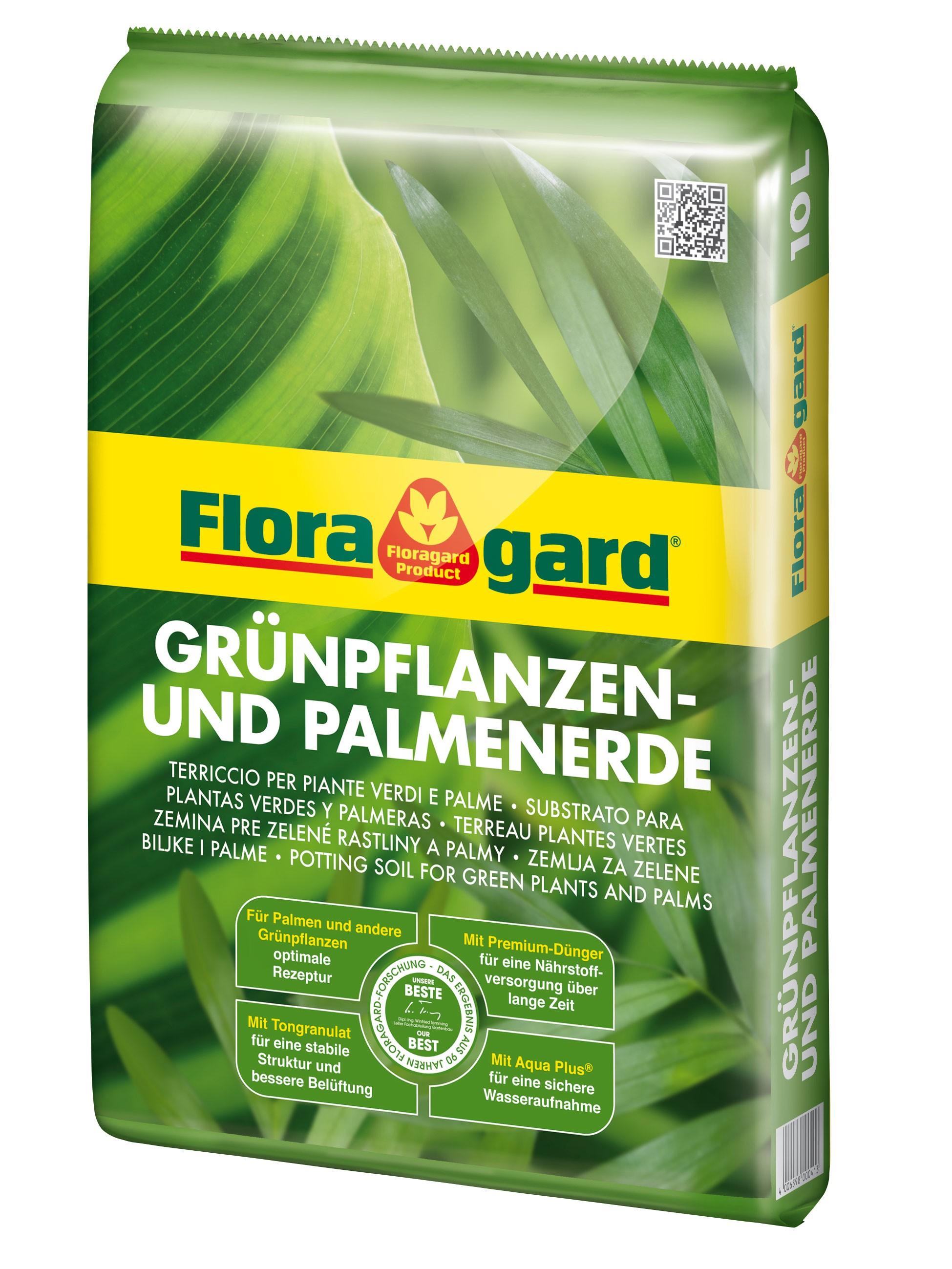Floragard Grünpflanzen- und Palmenerde 10 Liter Bild 1
