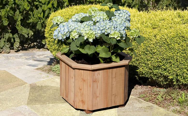 Blumenkübel / Pflanzkasten 8-eckig Holz Größe 1 Lärche 40x40x30cm Bild 1