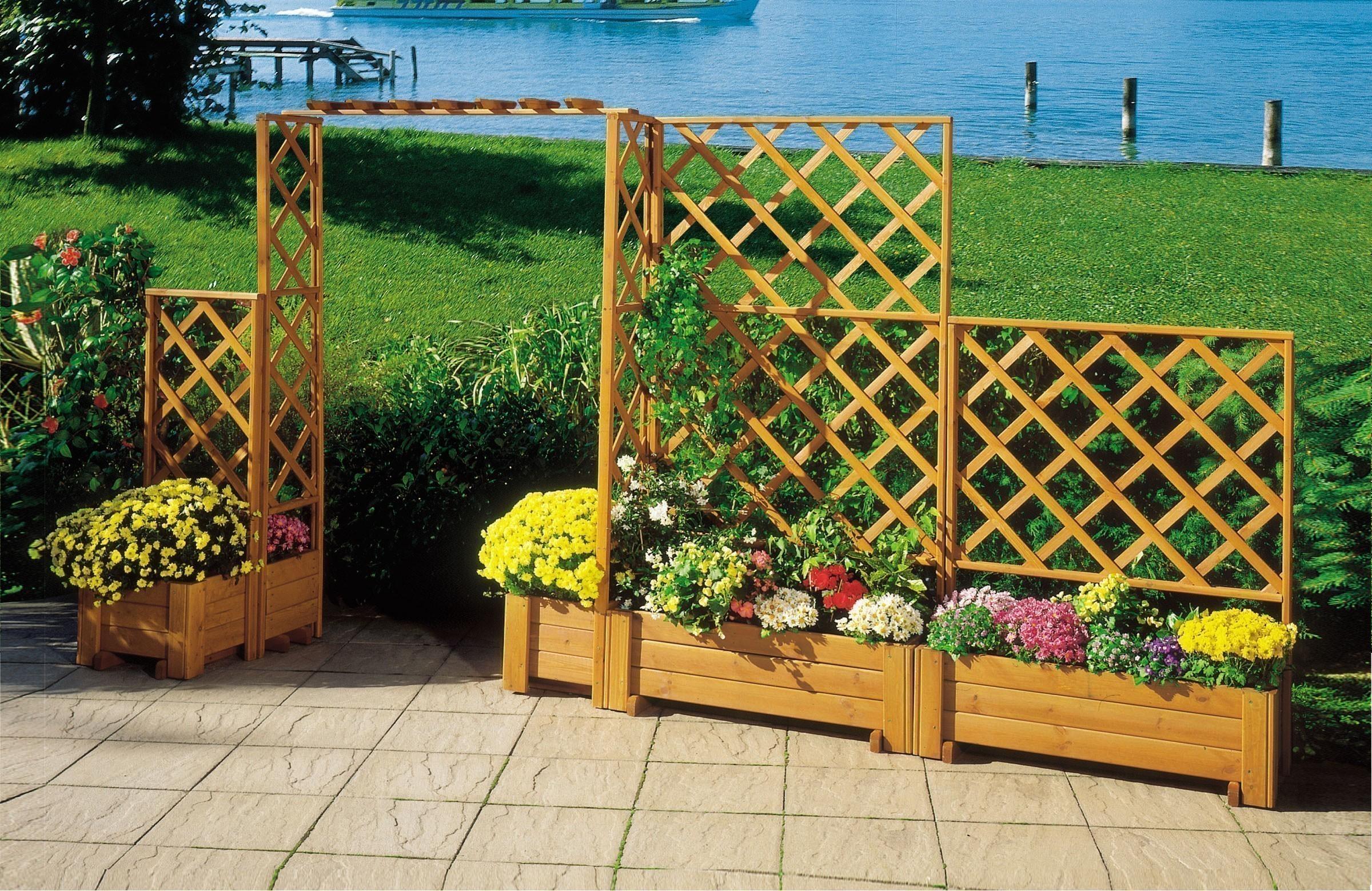 Rankkasten Blumenkasten + Spalier Blumenkastensystem Wachau 105x133cm Bild 2