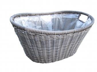 Pflanzkorb Habau aus Polyethylen mit Metallrahmen 45x30x20cm Bild 2