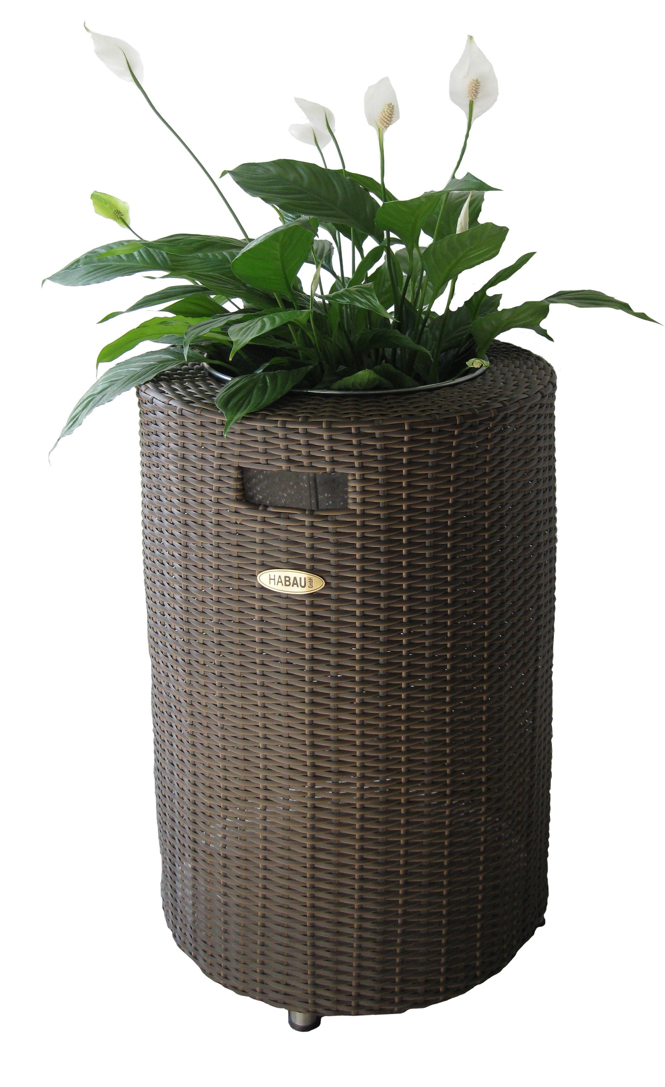 Pflanzsäule / Pflanzgefäß Habau Miami aus Polyethylen 40x40x70cm Bild 1