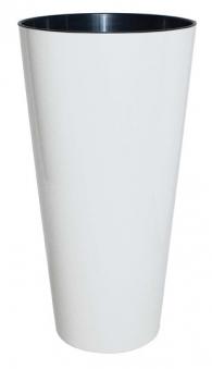 Geli Blumentopf / Pflanzgefäß Tubus Slim Ø 25 cm weiß Bild 1
