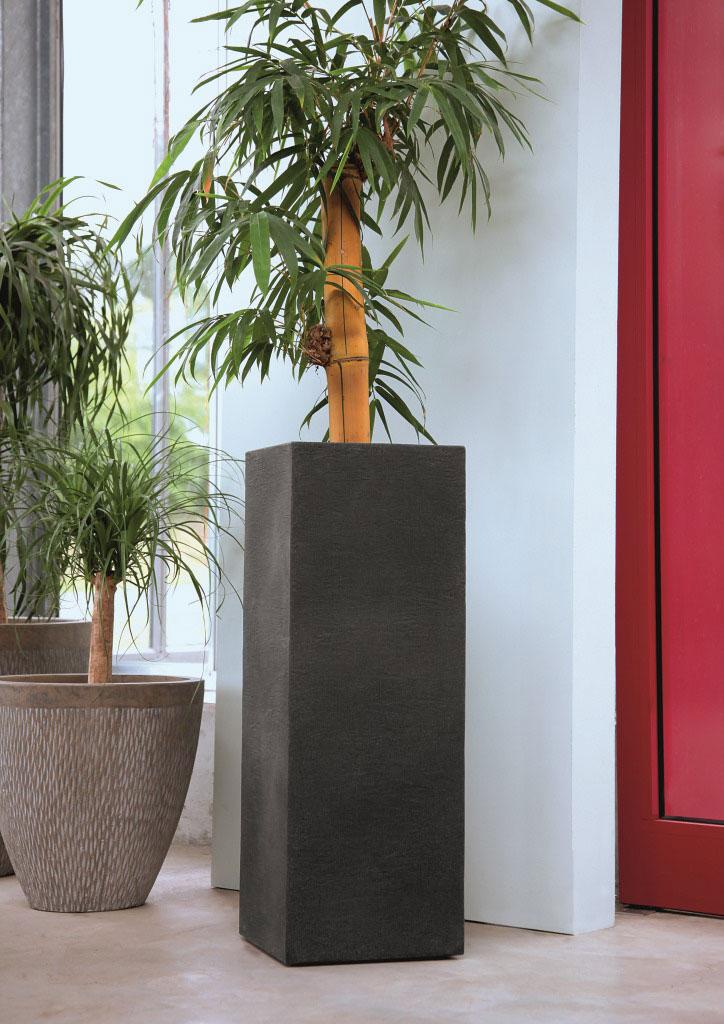 Geli Blumentopf / Pflanzsäule Kubus 30x30cm anthrazit Bild 2