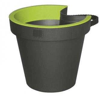 Geli Blumentopf / Regenrinnentopf E & K 23cm anthrazit / grün Bild 1