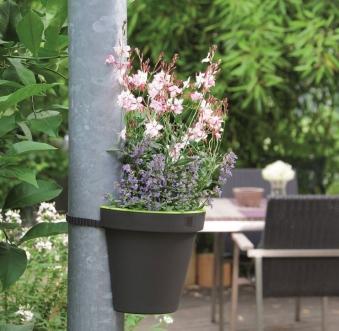 Geli Blumentopf / Regenrinnentopf E & K 23cm anthrazit / grün Bild 3