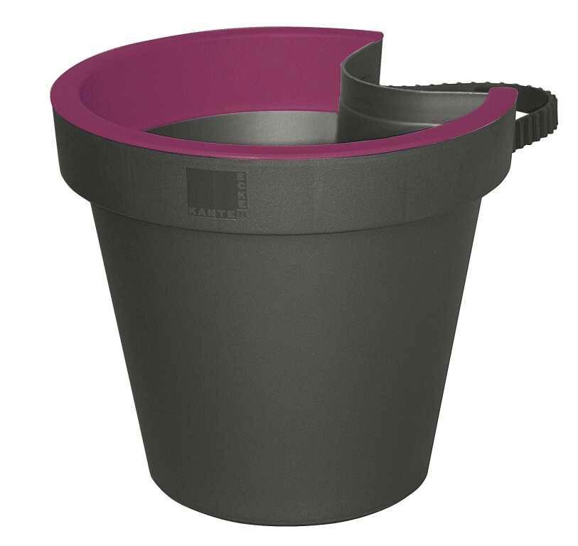 Geli Blumentopf / Regenrinnentopf E & K 23cm anthrazit / purple Bild 1