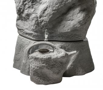 Gießkanne GreenLife Natursteindesign 9 Liter granitrot Bild 2