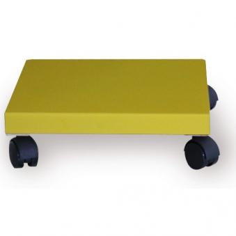Pflanzenroller / Allzweckroller Holz gelb 28,5x28,5cm Bild 1