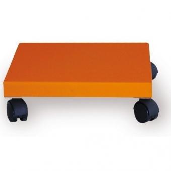 Pflanzenroller / Allzweckroller Holz orange 28,5x28,5cm Bild 1