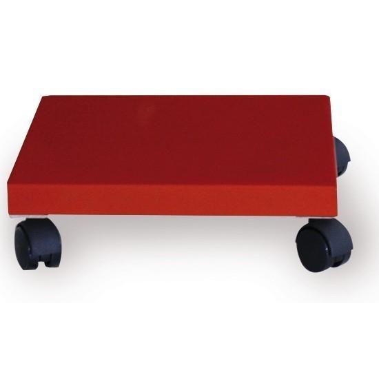 Pflanzenroller / Allzweckroller Holz rot 28,5x28,5cm Bild 1