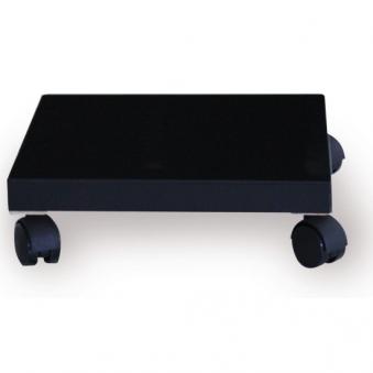 Pflanzenroller / Allzweckroller Holz schwarz 28,5x28,5cm Bild 1