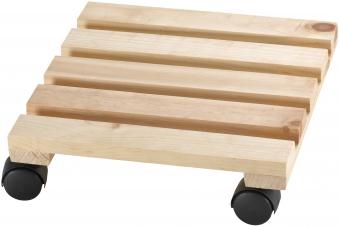 Pflanzenroller / Blumenroller Economy fahrbar 30x30cm Nadelholz Bild 1