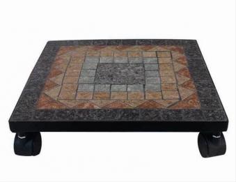 Pflanzenroller Siena Garden Prato Mosaik/schwarz 32x32cm Bild 1
