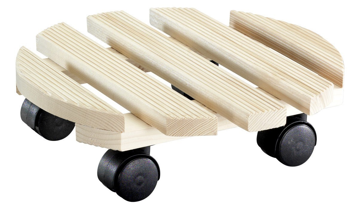 Wagner Pflanzenroller Multi Country / Untersetzer Ø30cm Holz impräg. Bild 1