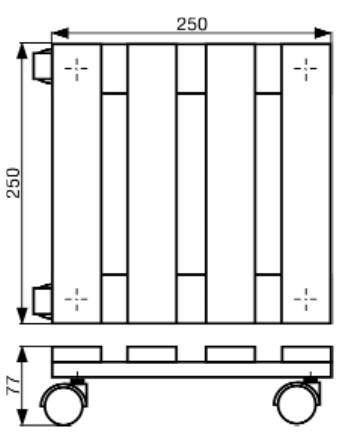 Wagner Pflanzenroller Multi Roller 25x25cm Buche natur Bild 2