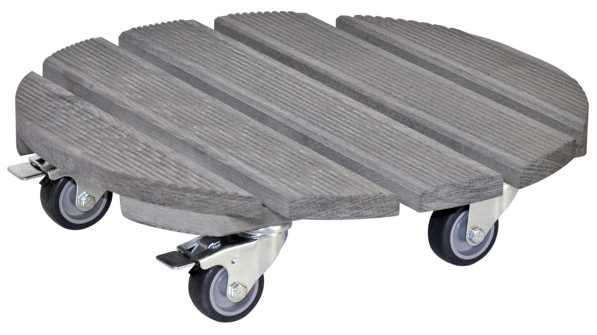 Wagner Pflanzenroller Multi-Roller Creo rund Ø 38cm Holz grau außen Bild 1