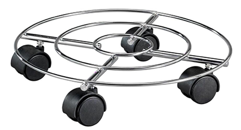 Wagner Pflanzenroller Multi Roller Draht fahrbar hart Ø30cm chrom Bild 1