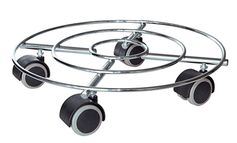 Wagner Pflanzenroller Multi Roller Draht fahrbar weich Ø30cm chrom Bild 1