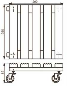 Wagner Pflanzenroller Multi Roller Toscana 29x29 Holz hell Antirutsch Bild 2