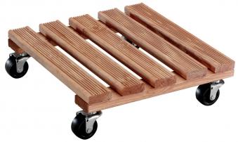 Wagner Pflanzenroller Multi Roller Toscana 29x29 Holz hell Antirutsch Bild 1