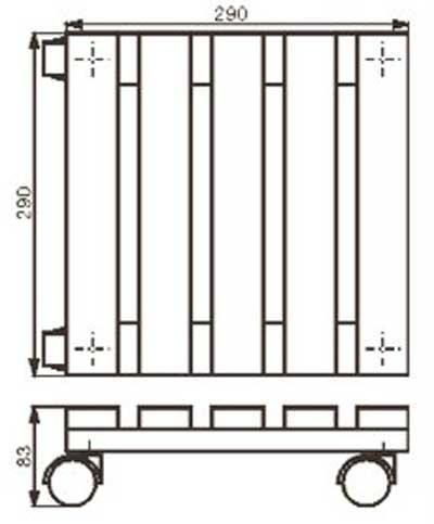 Wagner Pflanzenroller Multi Roller Toscana fahrbar 29x29cm Holz hell Bild 2