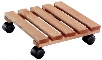 Wagner Pflanzenroller Multi Roller Toscana fahrbar 29x29cm Holz hell Bild 1