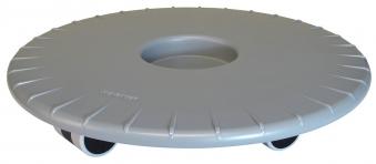 Wagner Pflanzenroller Multi Roller Ultraflat fahrbar Ø30cm silber-alu Bild 1