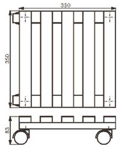 Wagner Pflanzenroller Multi Roller / Untersetzer 35x35cm Fichte natur Bild 2