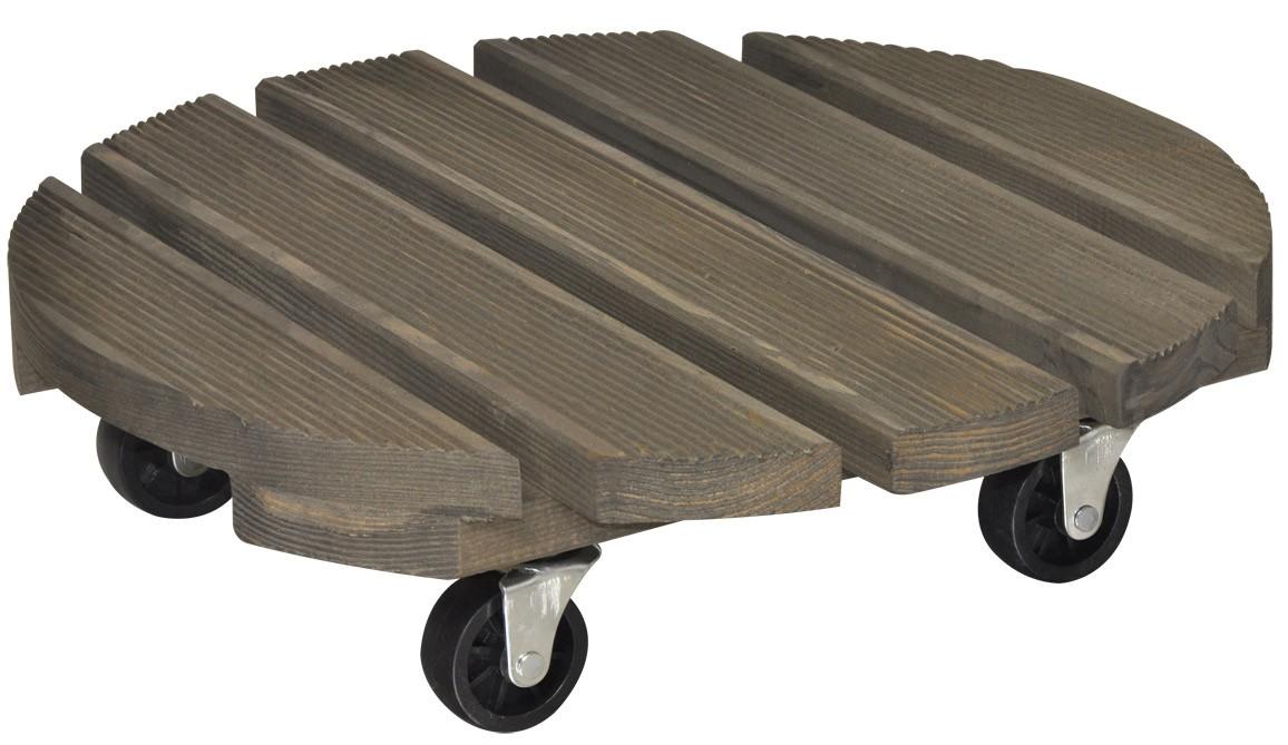 Wagner Pflanzenroller Multi-Roller Vintage rund Ø38cm Holz außen Bild 1