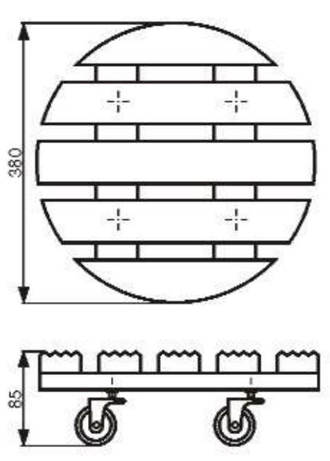 Wagner Pflanzenroller Multi-Roller Vintage rund Ø38cm Holz außen Bild 2