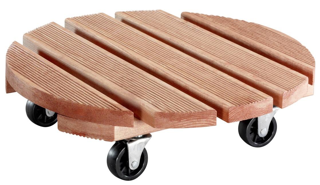 Wagner Pflanzenroller Multi Toscana / Untersetzer Ø38cm Holz außen Bild 1