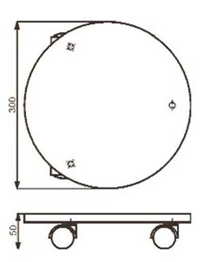 Wagner Pflanzenroller Multi / Untersetzer Ø30cm Stahl anthrazit Bild 2