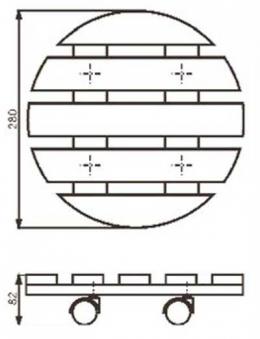 Wagner Pflanzenroller Multi / Untersetzer fahrbar Ø28cm Fichte natur Bild 2