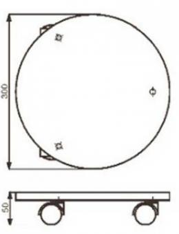 Wagner Pflanzenroller Multi / Untersetzer fahrbar Ø30cm Stahl verzinkt Bild 2