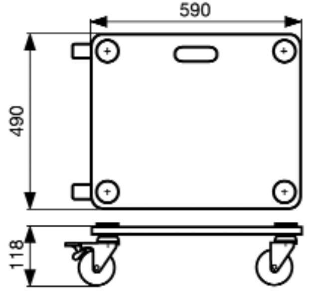 Wagner Transporthilfe MM 1116 / Transportroller / Möbelroller 200kg Bild 2