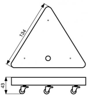 Wagner Transporthilfe MM 1158 / Transportroller / Möbelroller 100kg Bild 2