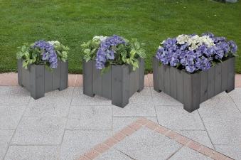 Blumenkübel / Pflanzkübel Blumenkasten-Set Wels 3teilig vintage-grau Bild 1
