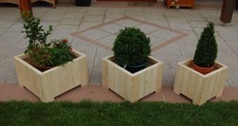 Blumenkübel / Pflanzkübel Blumenkasten-Set Wels 3teilig Bild 1
