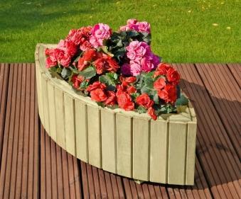 Blumenkübel /  Pflanzkübel Cleopatra Holz kdi 90x34x28 cm Bild 1
