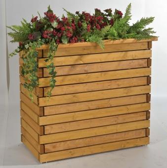 Blumenkübel / Pflanzkübel Pflanzkubus Baden 61x112x100cm honig Bild 1