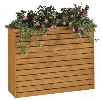 Blumenkübel / Pflanzkübel Raumteiler Mödling 130x47x100cm honig Bild 1