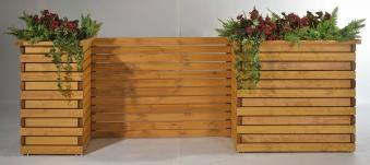 Blumenkübel / Pflanzkübel Raumteiler Mödling 130x47x122cm honig Bild 2
