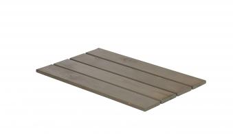 Deckel / Abdeckplatte Cubic f Blumenkasten Plus Holz graubraun 87x50cm