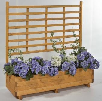 Blumenkasten mit Rankgitter Gmunden 136x37x136cm honig Bild 1